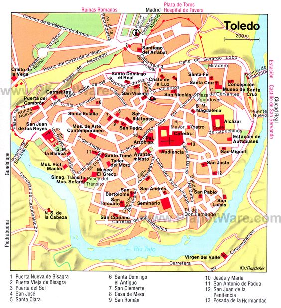 Toledo Map Tourist AttractionstripomaticSpain – Map Of La Tourist Attractions