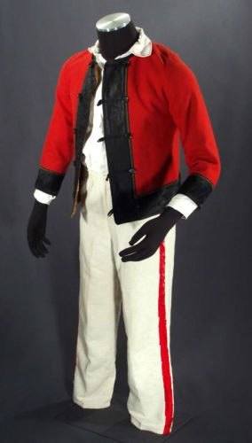 Polish Folk Costume Man's Shirt Pants Jacket Ethnic Dance Poland Kurpie Clothing | eBay