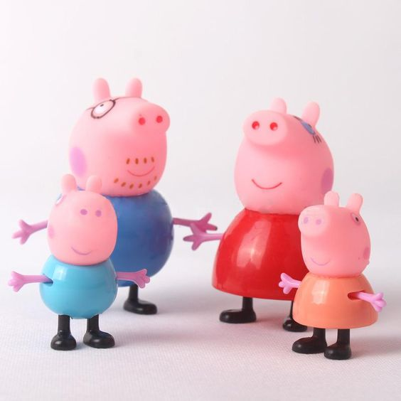 свинка пеппа папа свин на воздушном шаре