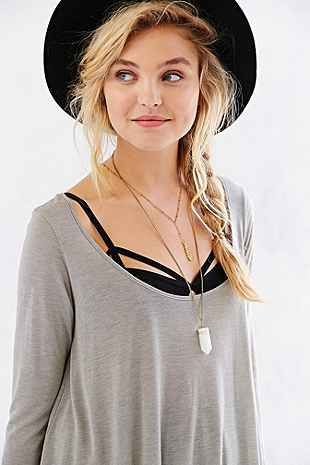 Project Social T Scoopneck Tunic Tee - Urban Outfitters