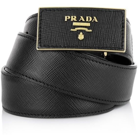 Prada Small Leather Goods, Belt With Logo Square Buckle Black (40560 RSD) ❤ liked on Polyvore featuring accessories, belts, black, leather buckle belt, logo belts, prada, leather belt and 100 leather belt