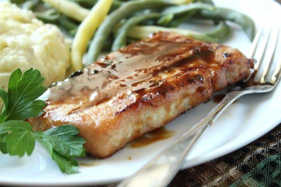 Bourbon-Glazed Pork Chops
