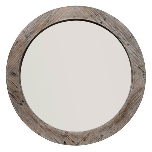 251 First Hayden Natural Wood Round Mirror Bellacor Round Wall