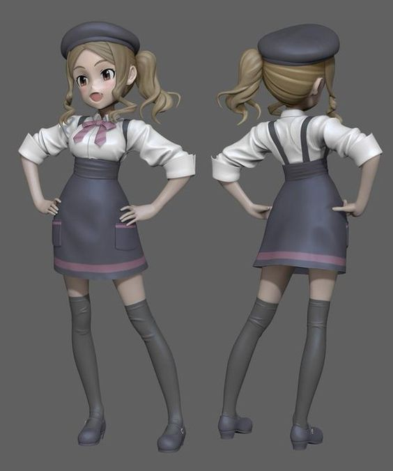 Anime Characters Zbrush : Zbrush anime and d on pinterest