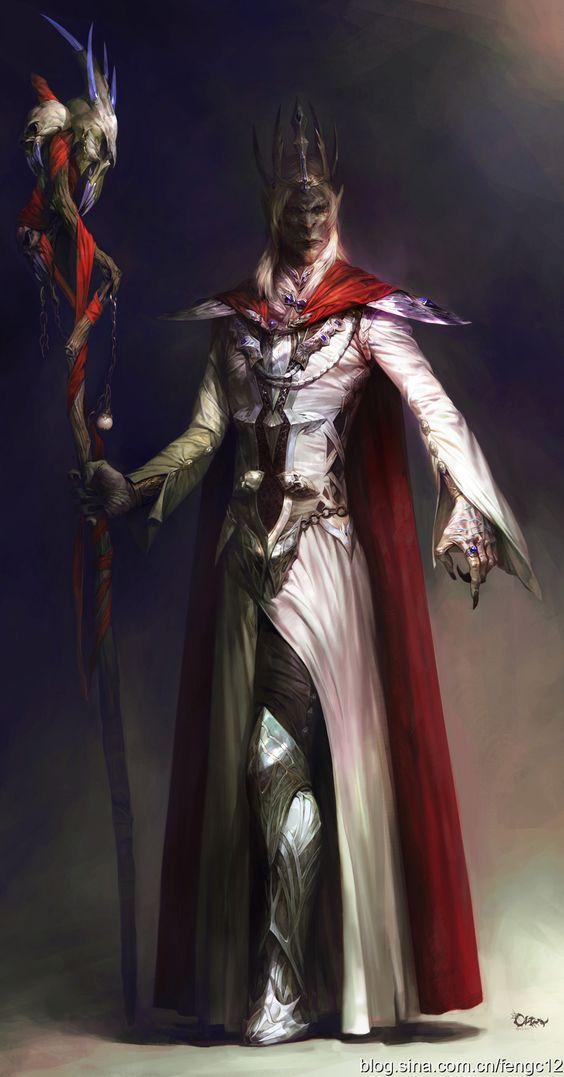 Drow wizard mage sorcerer dark elf old elder | Fantasy ...