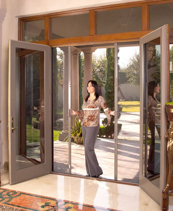 Pinterest the world s catalog of ideas for Hidden screens for french doors