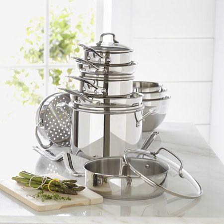 Cuisinart 11 Pc Stainless Steel Cookware Set Cookware Set