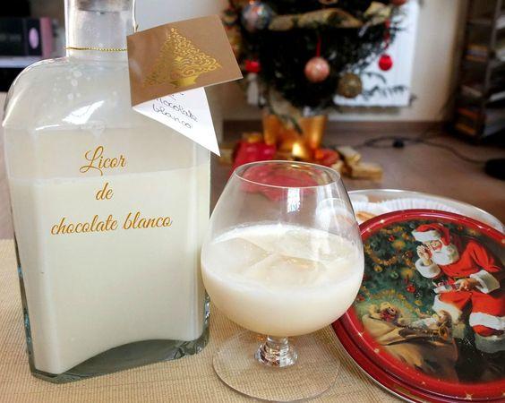 Cocinando con Lola García: Licor de chocolate blanco