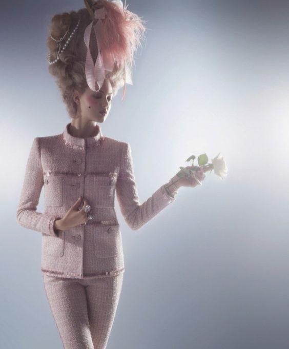 couture marie antoinette2 Karl Lagerfeld Shoots Lindsey Wixson in Marie Antoinette Couture for Harpers Bazaar