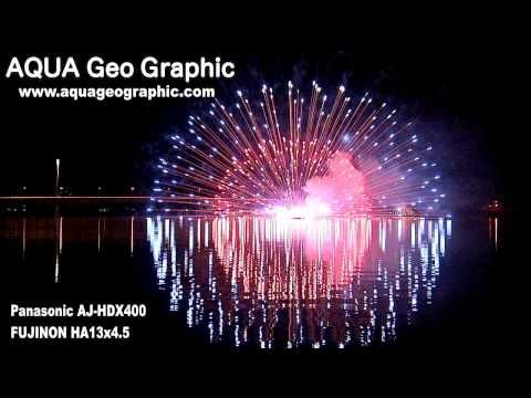 河口湖冬花火「湖上の舞」Kawagutiko Fireworks