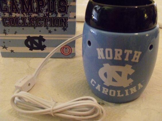 NIB Scentsy Warmer North Carolina Tarheels Campus Collections Blue White NEW! #ScentsyCampusCollection #NorthCarolinaTarHeels