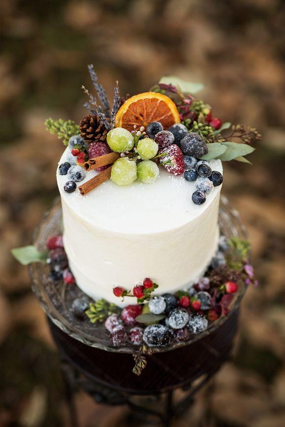 Christmas wedding cake! 7