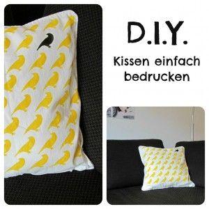 diy kissen einfach bedrucken babybirds diy. Black Bedroom Furniture Sets. Home Design Ideas