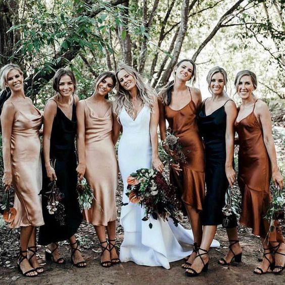 "Festival Brides on Instagram: ""If it's silk, and involves autumnal shades, we're into it right now 🖤🍂 ⠀⠀⠀⠀⠀⠀⠀⠀⠀ Spotted on @lovestonedbridal Bride: @brittany_hurton Gown:…"""