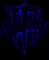 濃い青のモンスターエナジーのロゴ