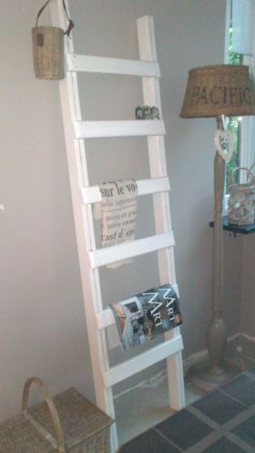 Decoratieve houten ladder arts an crafts pinterest ladder - Deco trap ...