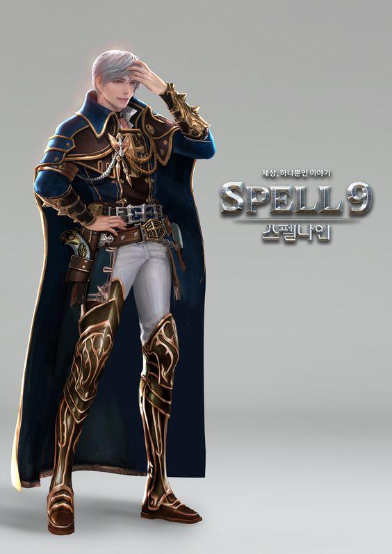 """Mobile Game -Spell nine Character """"Cain"""", Hotduck Yoon on ArtStation at https://www.artstation.com/artwork/OwmlK"""