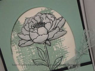 Stamp with Susie: Here is a beautiful flower card!!