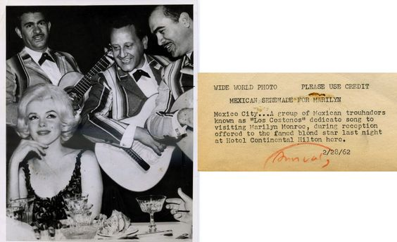 27/02/1962 Fête au Hilton de Mexico - Divine Marilyn Monroe