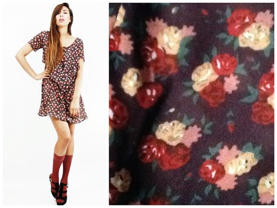 Vintage 90s Floral Babydoll Dress S by ShredThreads on Etsy, $23.00