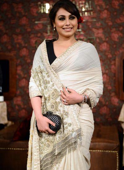 Rani Mukerji wearing a Sabyasachi sari