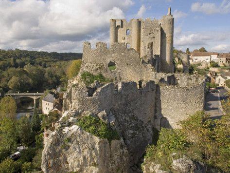 poitou france | Medieval Castle, Angles Sur L'Anglin, Vienne, Poitou-Charentes, France ...