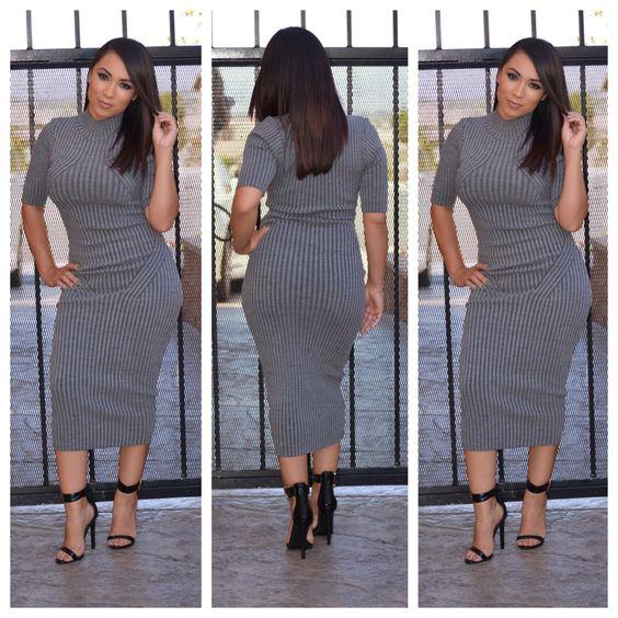 Naya Sweater Dress ( Grey)