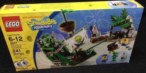 Lego Flying Dutchman Ship 3817 Sponge Bob Squarepants  241 Pieces 6-12 #LEGO