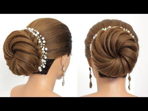 Bridal Updo Tutorial Wedding Prom Hairstyles For Long Hair Youtube In 2020 Prom Hairstyles For Long Hair Bridal Hair Buns Updo Tutorial