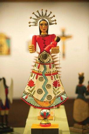 Nuestra Senora de Pueblo (Our Lady of Pueblo) is a retablo by Maria Romero Cash