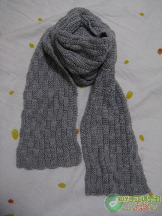 связать мужской шарф спицами схемы