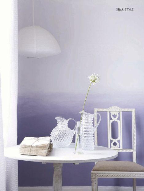 Casinha colorida: Tendencia 2016: pintura de paredes em tons degradês: