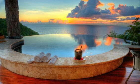 Jade Mountain, a resort with open-air rooms on Saint Lucia