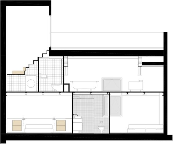 Loft Fábrica Grober,Sección Longitudinal 2