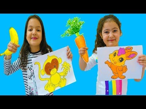 Masal And Oyku With Animal Pictures Painting Fun Kids Video Youtube Animal Pictures Youtube Videos For Kids Cool Kids