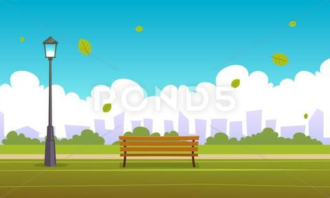 Summer City Park Vector Graphic Illustration 52255137 Cartoon Illustration Illustration Modern Graphic Art