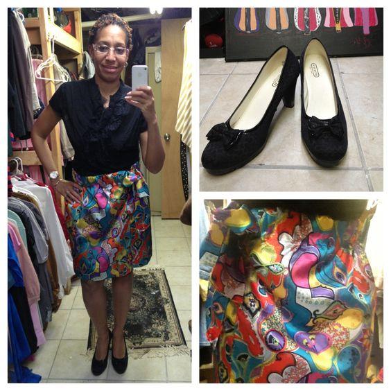 DIY colorful skirt