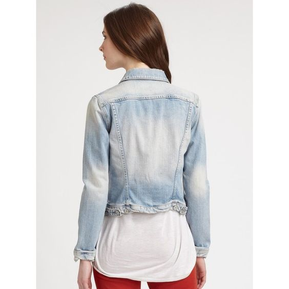 7 For All Mankind Denim Jacket ❤ liked on Polyvore