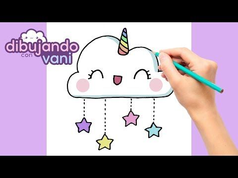 Como Dibujar Una Nube Unicornio Paso A Paso Imagenes Para Dibujar Dibujos Faciles Kawaii Dibujos De Nubes Como Hacer Dibujos Kawaii Dibujos Kawaii Faciles