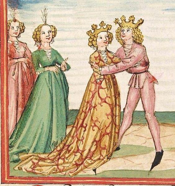 Pontus und Sidonia — Stuttgart (?) - Werkstatt Ludwig Henfflin, um 1475 Cod. Pal. germ. 142 Folio 32v