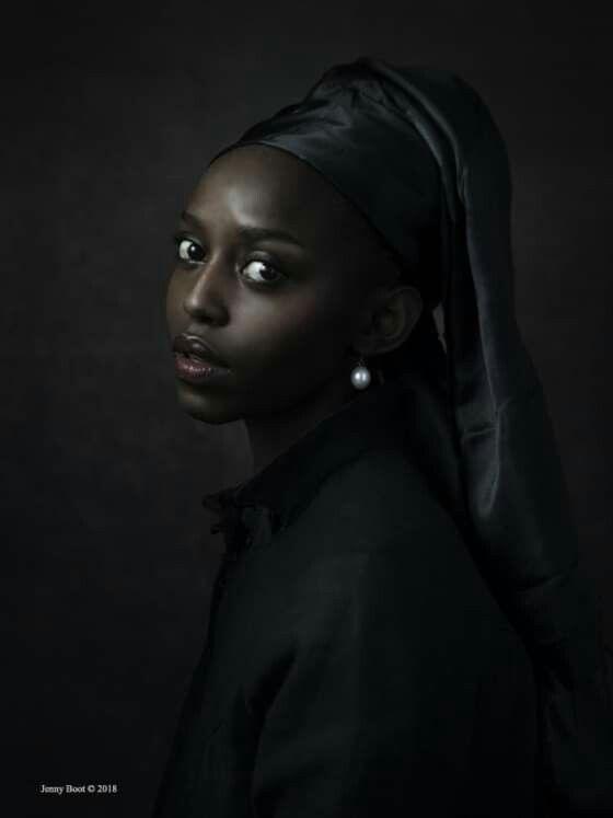 Moca Negra Com Brinco De Perola Black Girl With Pearl Earring