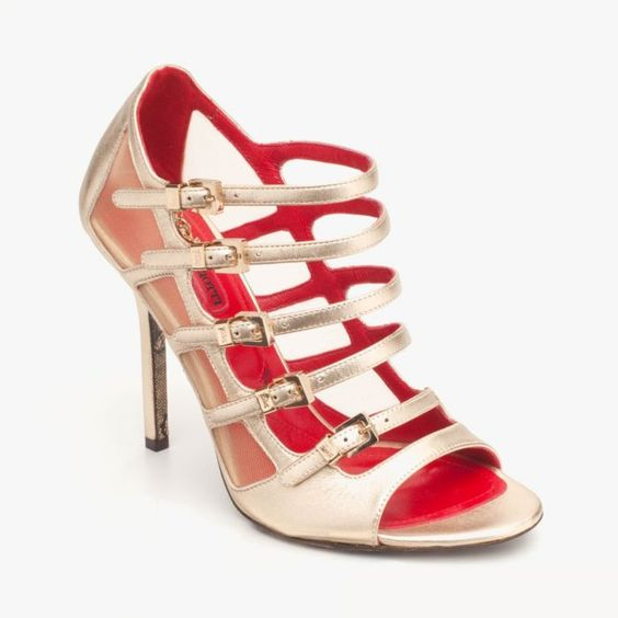 gold strappy sandals <3