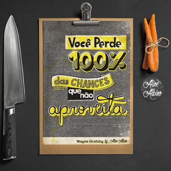 """""""Você perde 100% das chances que não aproveita #ficadica. ____ Versão caneca, camiseta ou poster disponível na @toutsbrasil [http://bit.ly/20JdzT0] .…"""""""