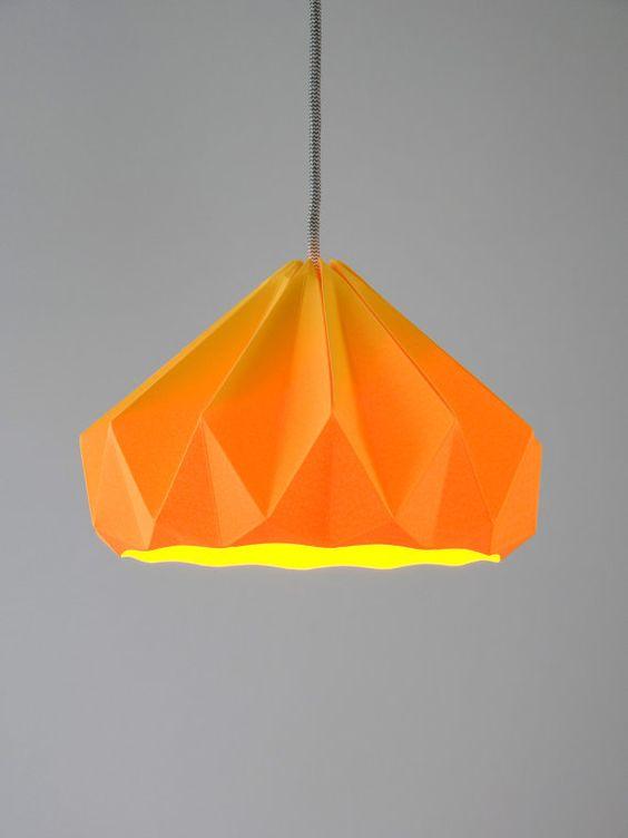 Chestnut paper origami lampshade