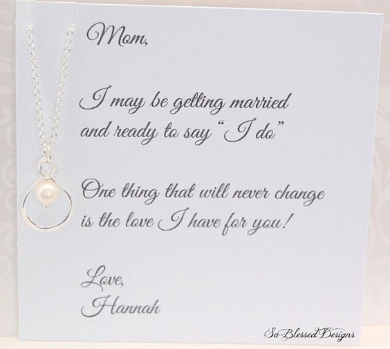 Mother of the BRIDE Mom necklace Brides Mother by SoBlessedDesigns