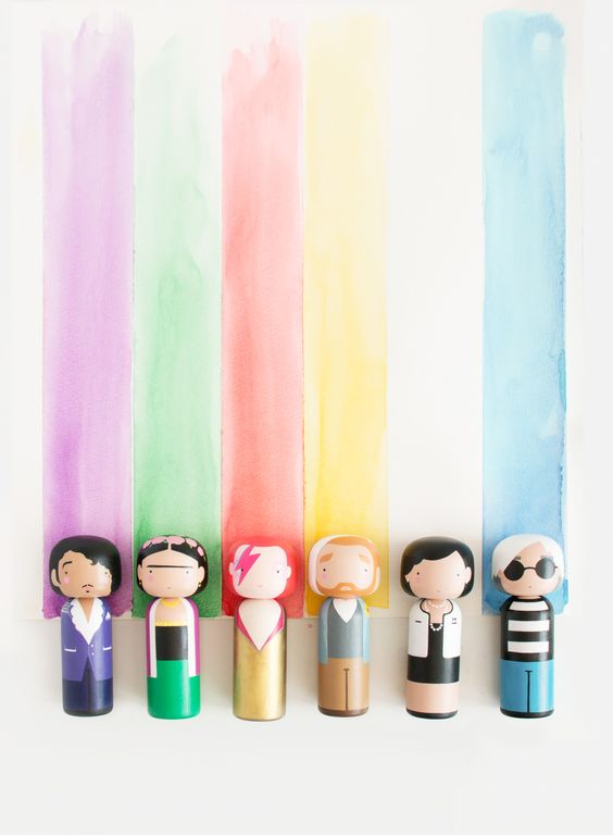 Rainbow - Sketch.inc Kokeshi Dolls: