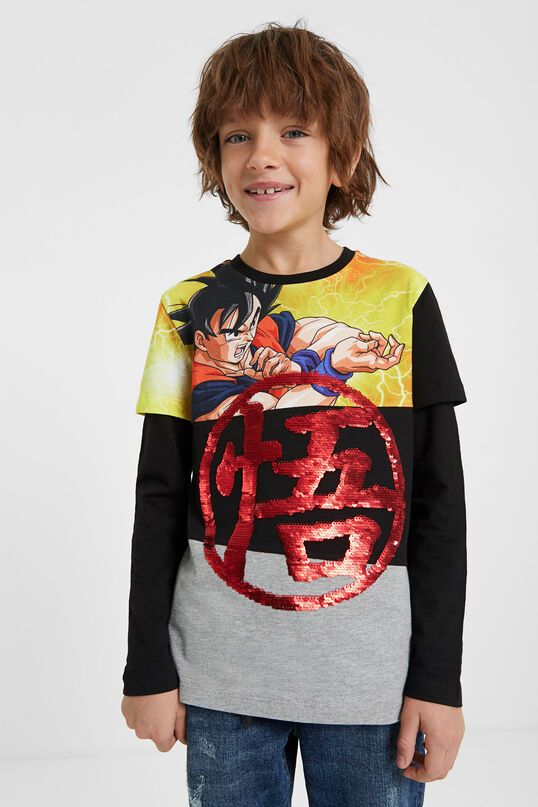 Camiseta Lentejuelas Dragon Ball Desigual Com Fashion Sequins T Shirt