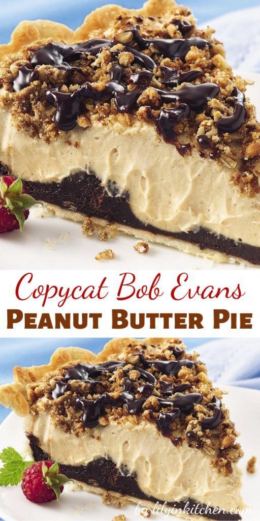 Copycat Bob Evans Peanut Butter Pie Recipes Recipe Peanut Butter Pie Recipes Peanut Butter Desserts Peanut Butter Pie