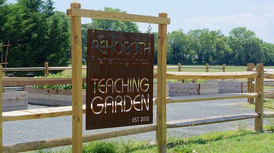 Rehoboth Teaching Garden   great sign