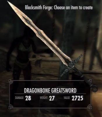 dragonbone greatsword skyrim fantasy weapons for